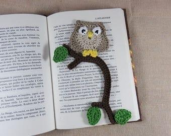 OWL bookmarks, bookmark crocheted bookmark, owls, books, fancy handmade crocheted child kawaii decoration jewelry