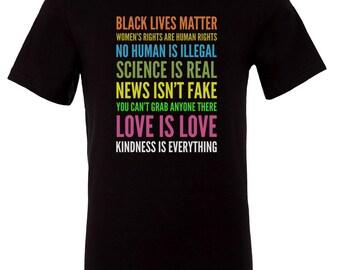 Women's Rights News Isnt Fake Black Lives Mater T-Shirt Democrat Anti Trump Liberal Human Rights Feminism Love Is Love Equal Tee
