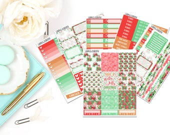 Christmas Collection-Erin Condren Horizontal Planner Stickers