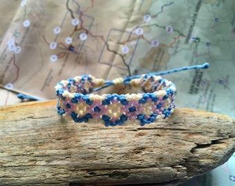Geometric/Argyle Macramé bracelet