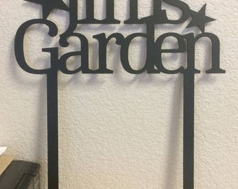 GARDEN SIGN - Personalized - Plasma cut, Steel Sign
