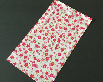 50 Designer Poly Mailers 6x9 Little RED FLOWERS Self Sealing Envelopes Shipping Bags Spring Mother's Day