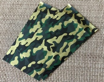 100 6x9 CAMO Designer Poly Mailers Camouflage Green Gold Black Gray Self Sealing Envelopes Shipping Bags