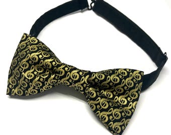 Musician Bow tie, Music Bow tie, Orchestra Bow tie, Symphony Bow tie, Bow tie with Music, Music Notes, Music, Music Note Bow tie, Pre-tied