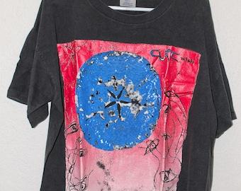 """Vintage The Cure """"Wish"""" Tour t shirt"""