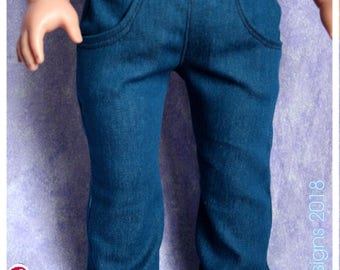 18 Inch Doll Clothing Boot Cut Jeans Blue