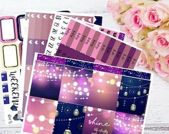 """Full kit """"FIREFLY"""" (Erin Condren vertical size) - fairy lights - string lights - summer - night"""