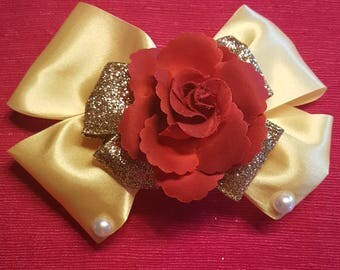 Beauty & the Beast Inspired Hair Bow