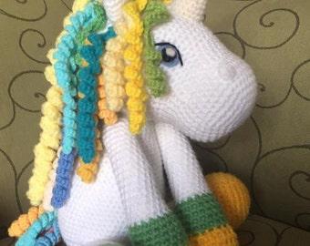Crochet multicolor unicorn