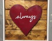 Rustic heart, Wood Heart, rustic wall decor, valentines day gift, Valentines Day, valentines wall decor, heart wall art, rustic heart decor