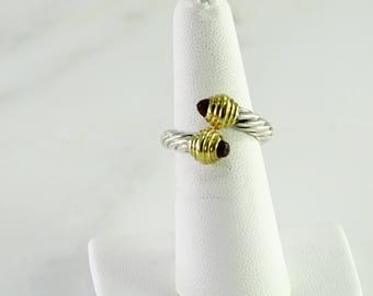 Vintage David Yurman Sterling / 14 K Ring size 6.5