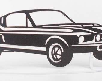 FORD MUSTANG Fastback iron plate plaque painted