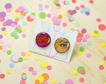 Comic Statement Studs