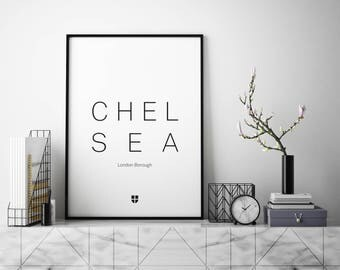 Chelsea, London Borough | London Print | London Artwork | London Illustration | Architecture Print | City Print