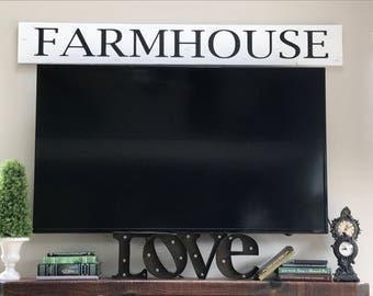 Farmhouse Sign/Farmhouse Decor/Large Wood Sign