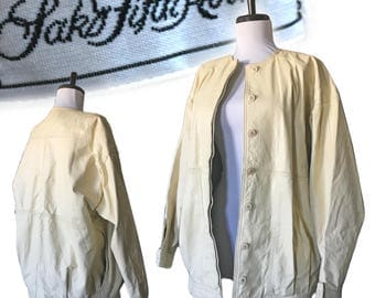 Vintage SAKS Fifth Avenue Leather Bomber — Small