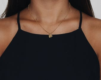 SALE: Gold Shamrock Necklace