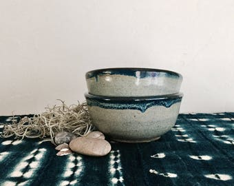 Small Blue Cereal Bowl