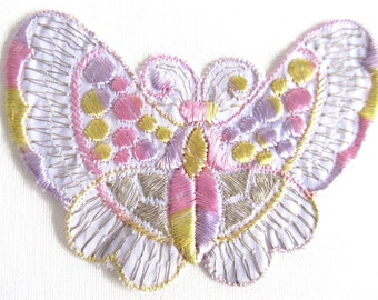 Butterfly applique 1930s vintage embroidery Sewing supply. #6A8G43KB