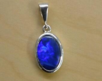 Australian  Opal Silver pendant