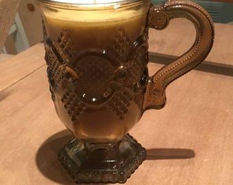 Coffee mug candle