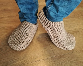 Crochet slipper boots/men slippers/men slipper boots/slipper boots/crochet men slippers handmade/house shoes/crochet wool slippers