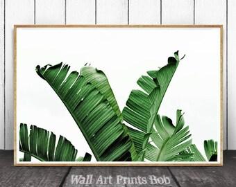 Banana Leaf, Banana Leaf Print, Leaf Print, Tropical Leaf Print, Printable Leaf, Leaf,  Tropical Decor, Tropical Wall Art, Modern Minimalist