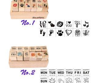 Creative Stamp, Stationery, Week, Cute, Wood