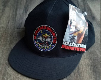 NWT Marlboro Unlimited Dad Hat, Vintage Embroidered Outdoorsman Hat, Trendy Sun Cap