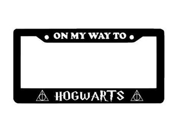 Harry potter License Plate Frame, Custom license Plate Frame, Hogwarts Express, Car Plate Frame, Custom Decal, Harry Potter Stickers