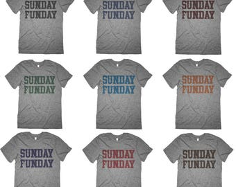 Vintage Sunday Funday Shirt - Retro  Sunday Funday Custom Color Shirts