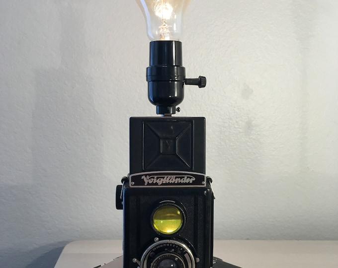 Vintage Twin Lens Reflex Camera Lamp