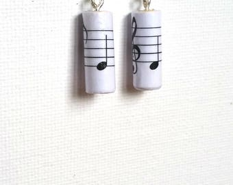 Musical Notes Earrings made from recycled materials
