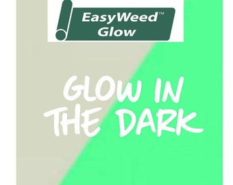 Glow in The Dark Siser EasyWeed Glow Heat Transfer Vinyl - Iron On - HTV - Glow in The Dark