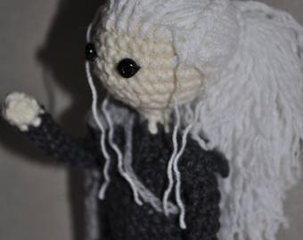Daenerys Targaryen Khaleesi Queen of the Andals and Dragons amigurumi crochet toy White Walker inspired Game of Thrones