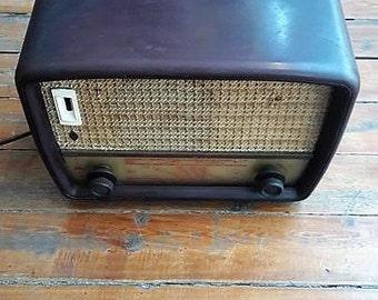 Antique Siera Coin Tube Radio