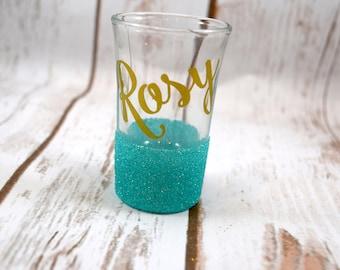 Personalized Shot Glass, Glitter Shot Glasses, Custom Shot Glass, Best Friend Gift, Birthday Gift, Gifts Under 10, Shot Glass Gift, Glitter