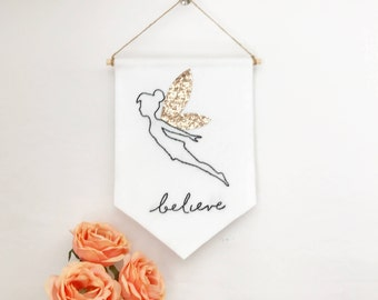 I Believe in Fairies Wall Hanging