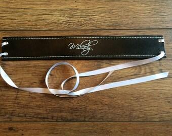 Custom engraved BDSM collar