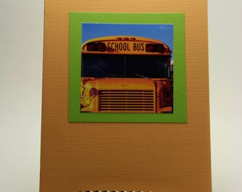 Back to School Greeting Card - Hop On! - School Bus - First Day of School - Teacher Gift - Back to School - Made in Medina, Ohio, USA!