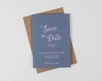 Modern Save the Date, Typography Save the Date, Minimalist Save the Date, Chic Save the Date, Contemporary Wedding  **Minimum order: 20