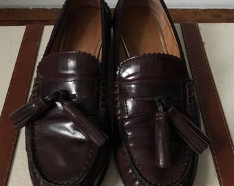 Burgundy Coach Loafers