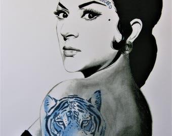 "Print ""A tu Vera"" Lola Flores."