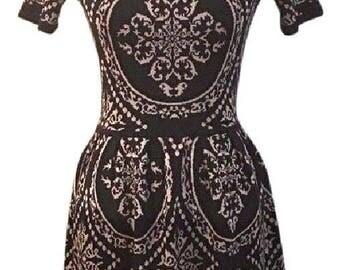 Medallion Print Knit Dress