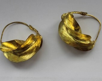 Fulani Golden Bronze Hoops