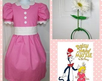 Daisy Head Mayzie, Daisy Head Mayzie Dress, Dr Seuss Daisy Head Mayzie, Party Dress, Character Birthday, Character Dress