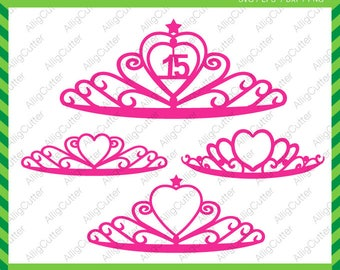 Crown Princess Monogram Frames SVG DXF PNG eps Queen Cut Files for Cricut Design, Silhouette studio, Sure Cuts A Lot, Makes the cut