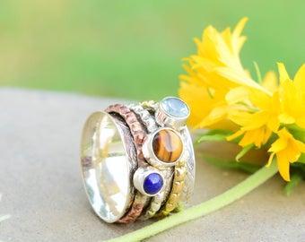 Silver Spinner Ring * Meditation Ring * Spinning Ring * Anxiety Ring * Worry Ring * Boho Ring * Spin Ring * Statement Ring * Anxiety Ring