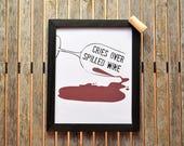 Wine Decor, Wine Print, W...