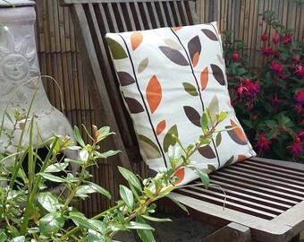 Cushion, cushion cover, decorative cushion, leaves, home decor, handmade